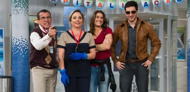 """Eri Johnson, Heloísa Périssé, Priscila Fantin e Ricardo Tozzi fazem parte do elenco do humorístico """"Tomara que Caia"""", que estreia neste domingo"""