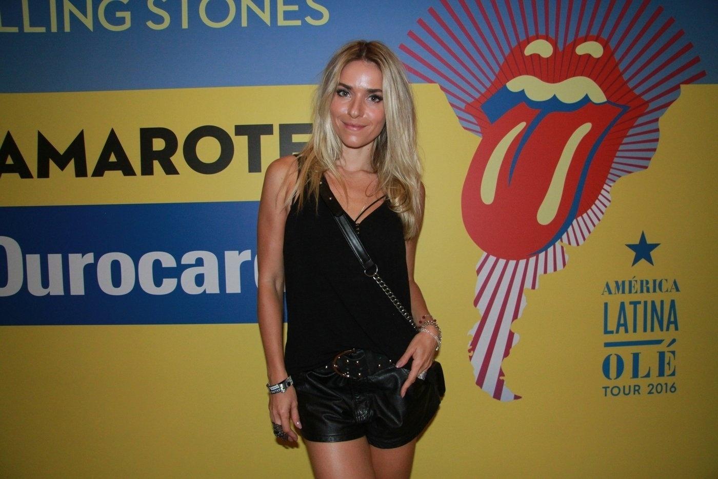 20.fev.2016 - Famosos no show do Rolling Stones no Rio de Janeiro