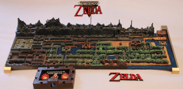"Mapa de ""The Legend of Zelda"" original levou 24 horas para ser impresso"