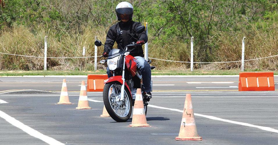 Exame pratico de moto