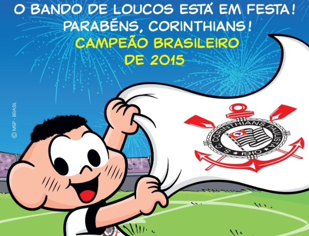 Cascão comemora o hexacampeonato brasileiro do Corinthians