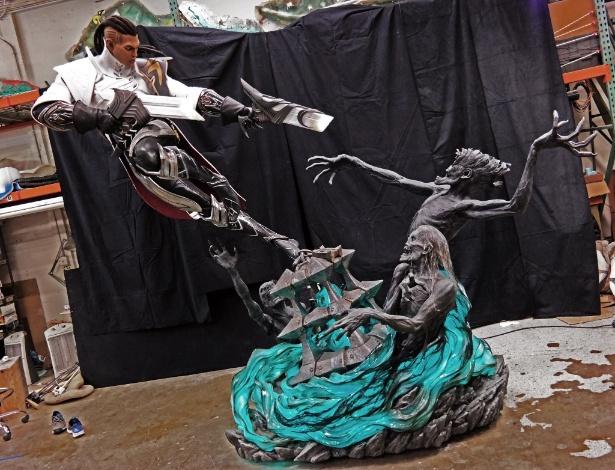 Estátua foi comissionada pela Riot Games