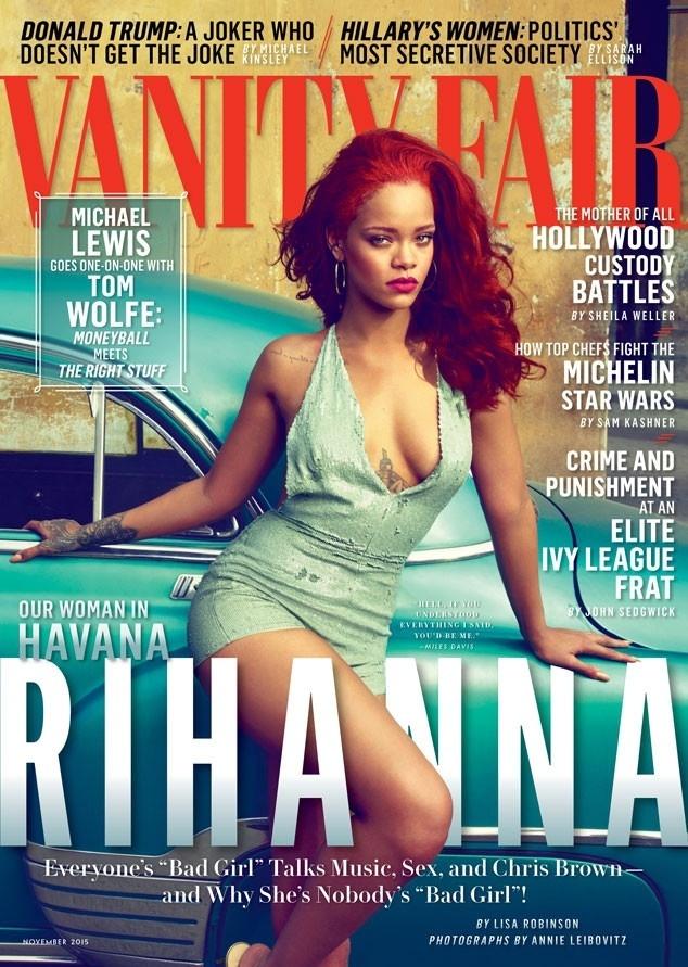 """Rihanna é a capa da edição de novembro da revista """"Vanity Fair"""""""