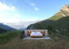 Acomodação sem teto e paredes nos Alpes suíços tem diárias a R$ 830 - Divulgação/Null Stern