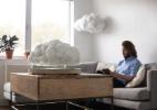 Designer constrói uma caixa de som que é uma nuvem que flutua (Foto: Reprodução )