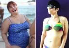 De biquíni, atriz Simone Gutierrez mostra antes e depois de perder 42 quilos - Reprodução/Instagram