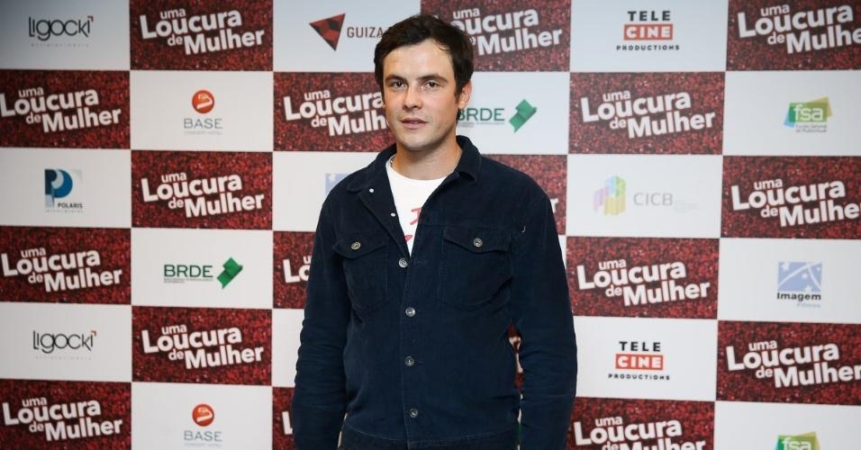 24.abr.2016 - Sergio Guizé participa de uma entrevista coletiva para promover o filme