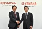 Rivais, Honda e Yamaha se unem para fazer motos elétricas no Japão - KAZUHIRO NOGI/AFP