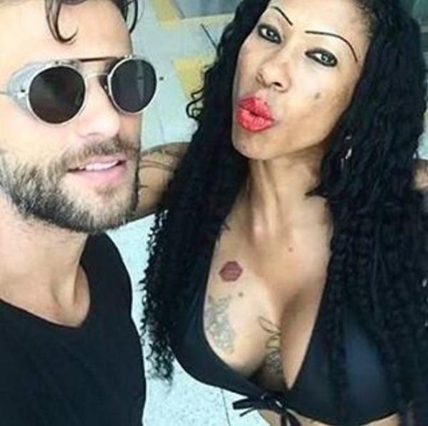 Bruno Gagliasso e Inês Brasil