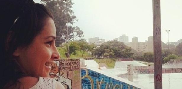 A skatista de Paraty Giselle Ferreira. Ela não andará na pista a ser inaugurada na cidade