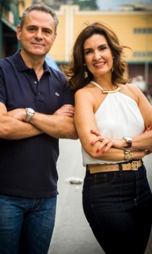 Luís Roberto e Fatima Bernardes narram os desfiles do grupo especial do Rio de Janeiro