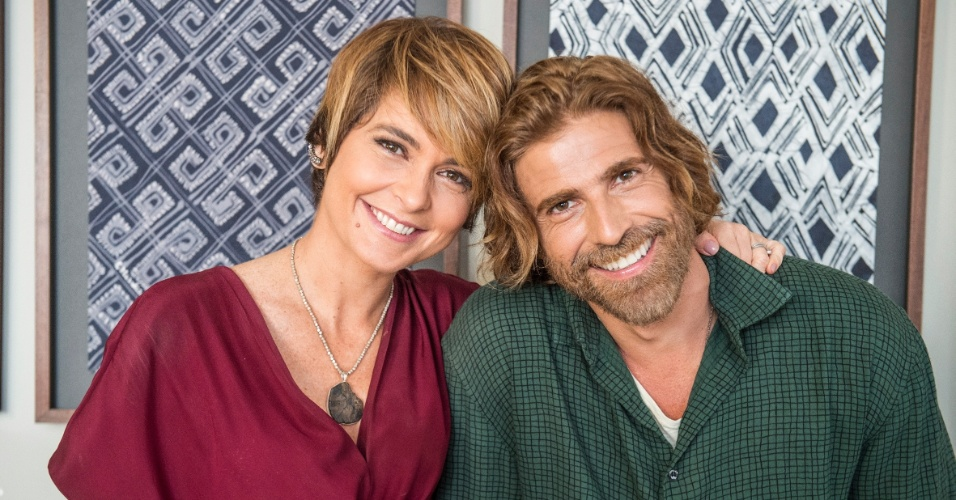Helô (Claudia Abreu) e Pedro (Reynaldo Gianecchini) na novela