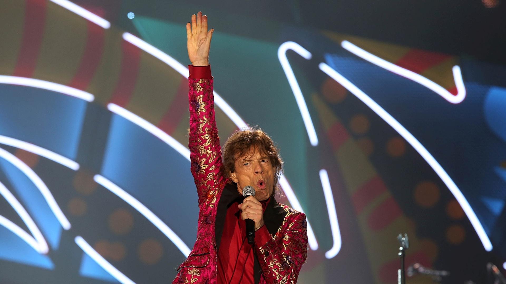 20.fev.2016 - Rolling Stones se apresenta no Rio de Janeiro na noite deste sábado