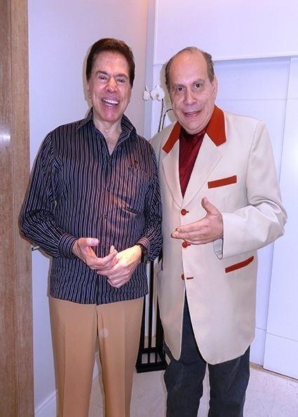 Petrúcio Melo com Silvio Santos
