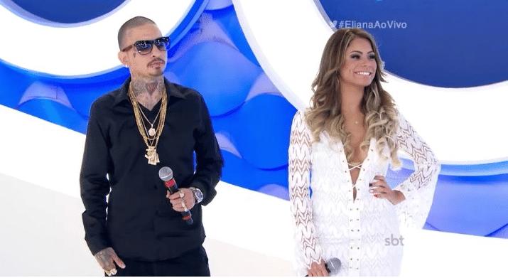 14.fev.2016 - MC Guimê e Lexa se apresentam durante o programa