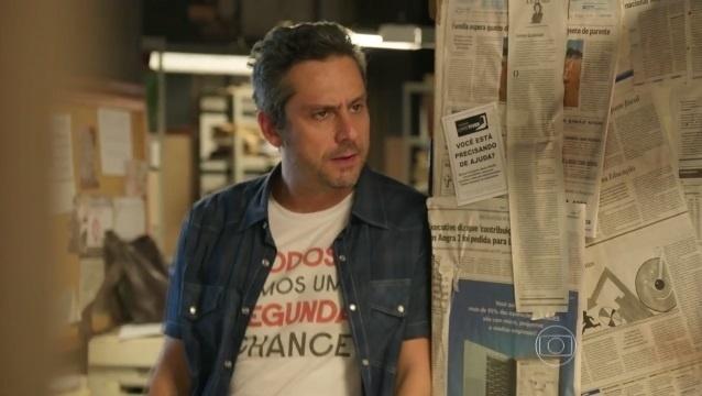 Em mais uma contradição, Romero Rômulo usou a camiseta