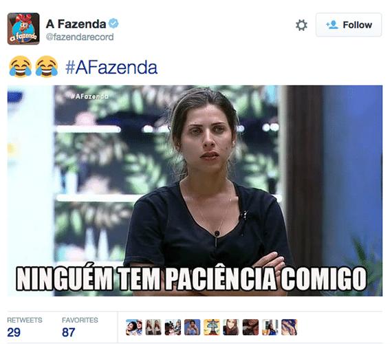 8.out.2015 - A frase combina perfeitamente com Ana Paula Minerato, após levar