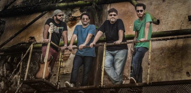 O grupo Compasso Lunnar, formado por Clayton Prosperi, Fernando Marchetti, Ismael Tiso e Paulo Francisco Tutuca
