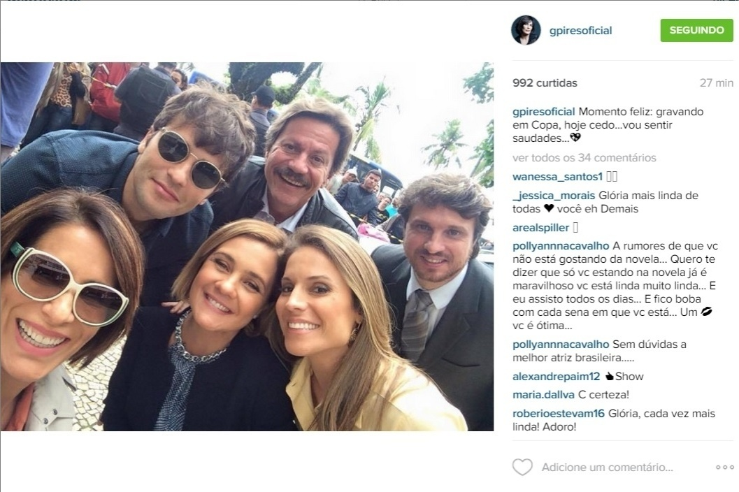 22.jul.2015 - Gloria Pires já está em clima de despedida de