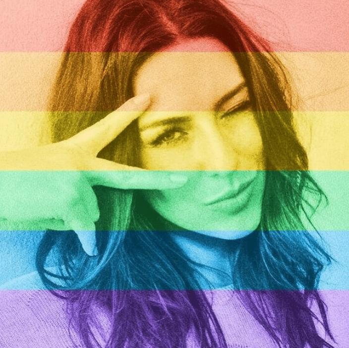 26.jun.2015 - Fernanda Paes Leme mostra apoio à legalização do casamento gay aprovada nos Estados Unidos, nesta sexta-feira (26),, com uma foto em seu Instagram