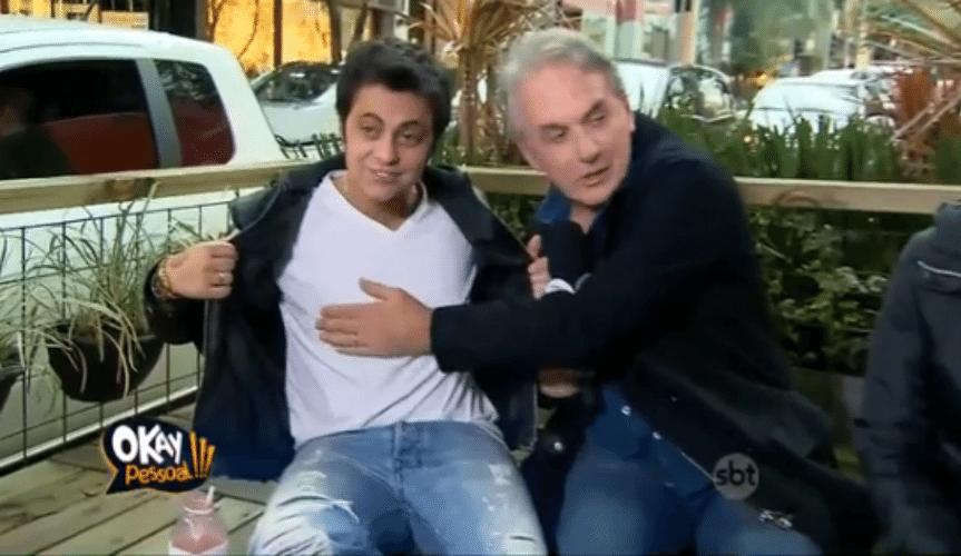 13.ago.2015 - Thammy Miranda diz que pegaria Ana Maria Braga e Camila Queiroz
