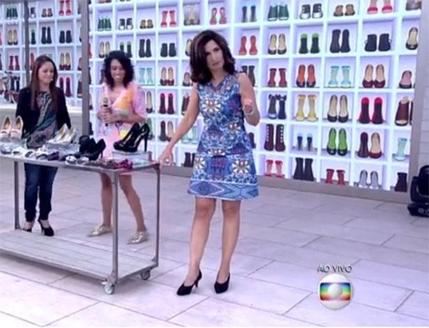 O vestido lenço Oriente usado pela apresentadora Fátima Bernardes, no dia 04 de dezembro