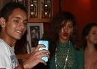 Depois do Rock in Rio, Rihanna usa vestido transparente em churrascaria - Gabriel Reis, André Freitas, Dilson Silva, Gabriel Rangel e Delson Silva / AgNews