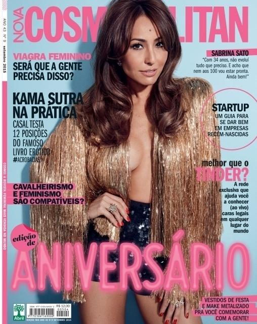 Sabrina Sato é a capa da edição de setembro da revista