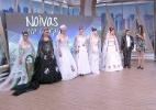 Noivas levam time do coração estampado no vestido de casamento. Assista - Reprodução/Vídeo