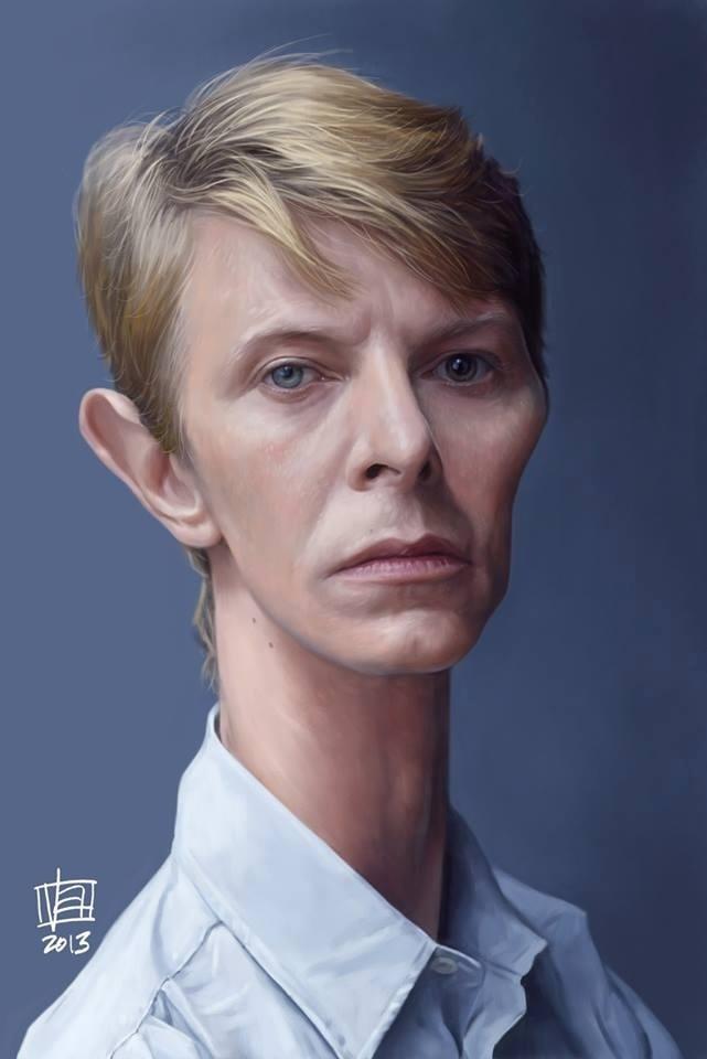 Vincenzo Patzo homenageou David Bowie com uma bela imagem do artista