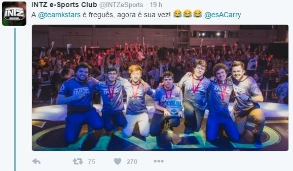 CBLOL 2016 - Tweet INTZ