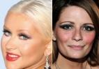 Famosas mostram que maquiagem bem marcada nem sempre funciona como na realidade - Montagem/UOL
