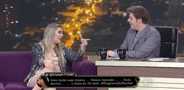 """8.nov.2016 - Conhecida pelo hit """"50 Reais"""", Naiara Azevedo admite em entrevista ao """"Programa do Porchat"""" que ja foi infiel"""