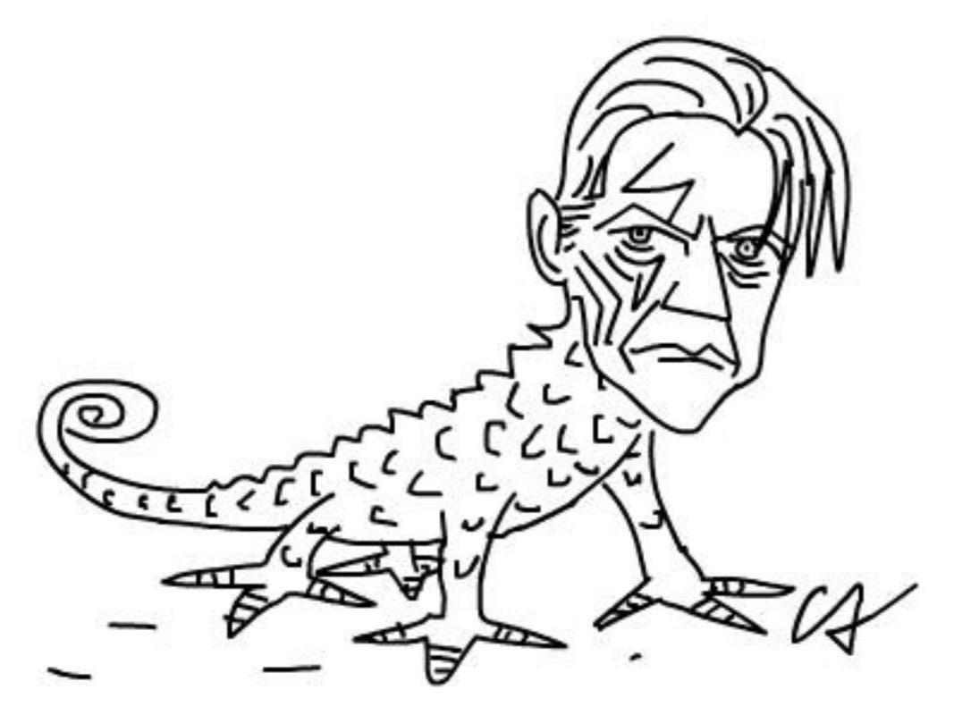 Caó Cruz Alves homenageou o cameleão David Bowie com uma caricatura
