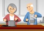 Adaptações simples deixam a casa mais segura e melhoram a vida dos idosos (Foto: Rogério Doki/ Arte UOL)