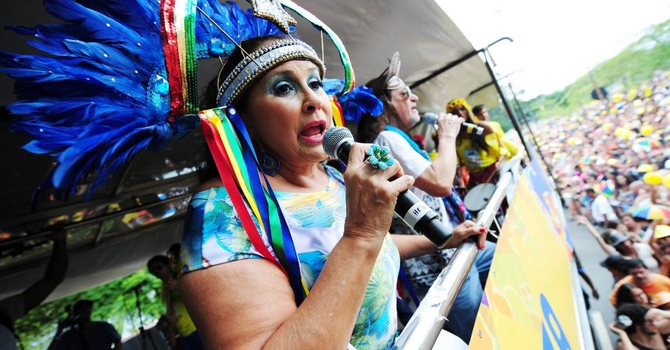 Fafá de Belém e Alceu Valença levantam o público no bloco