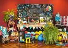 Jogos e brincadeiras infantis viram tema de chá de bebê de gêmeos - Sandra Pagano/Divulgação