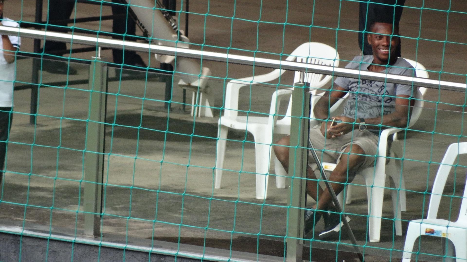 Robinho esteve no Estádio Independência para acompanhar Atlético-MG x Boa Esporte