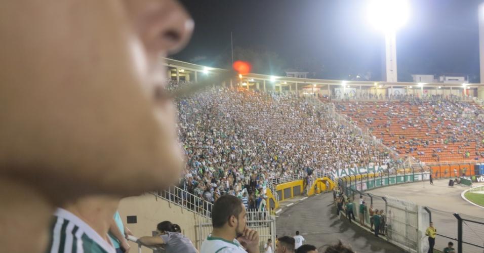 Torcedor do Palmeiras fuma maconha na arquibancada do Pacaembu