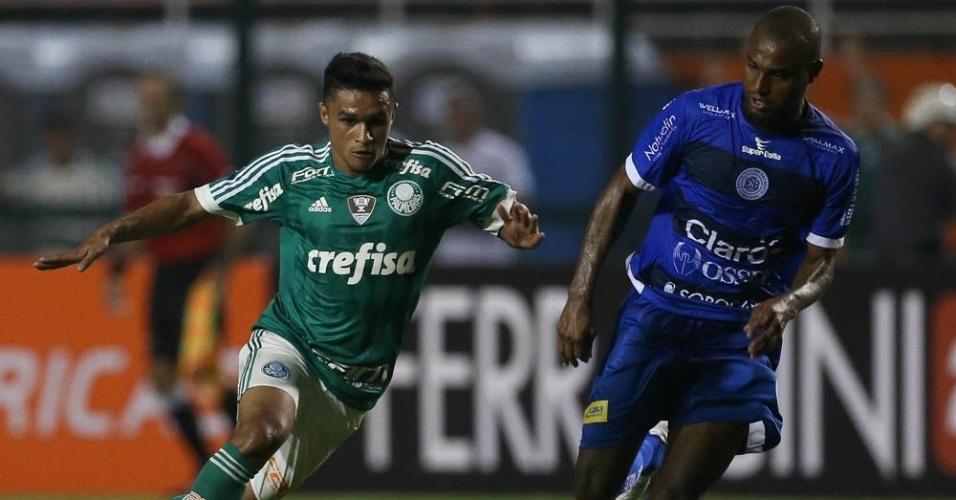 Erik entrou no segundo tempo da partida entre Palmeiras e São Bento