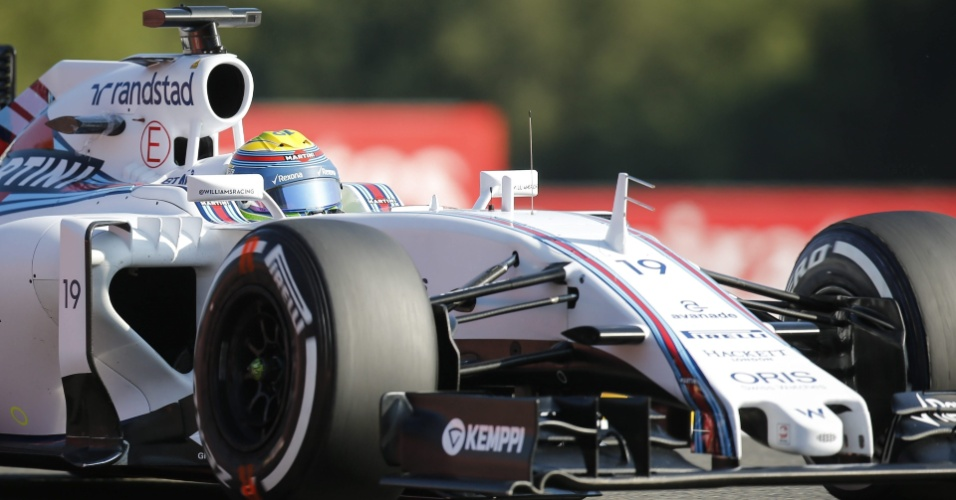 Felipe Massa, da Williams, durante primeira sessão de treinos livres para o GP da Bélgica