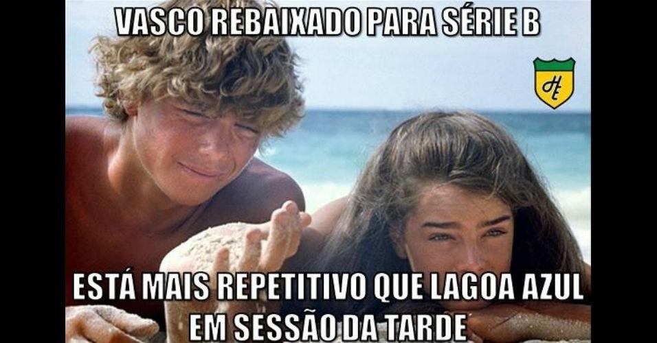 Vasco sofre com memes após terceiro rebaixamento para a Série B