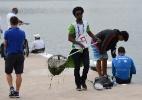 Excesso de algas faz atletas reprovarem água em teste da canoagem para 2016 - VANDERLEI ALMEIDA / AFP