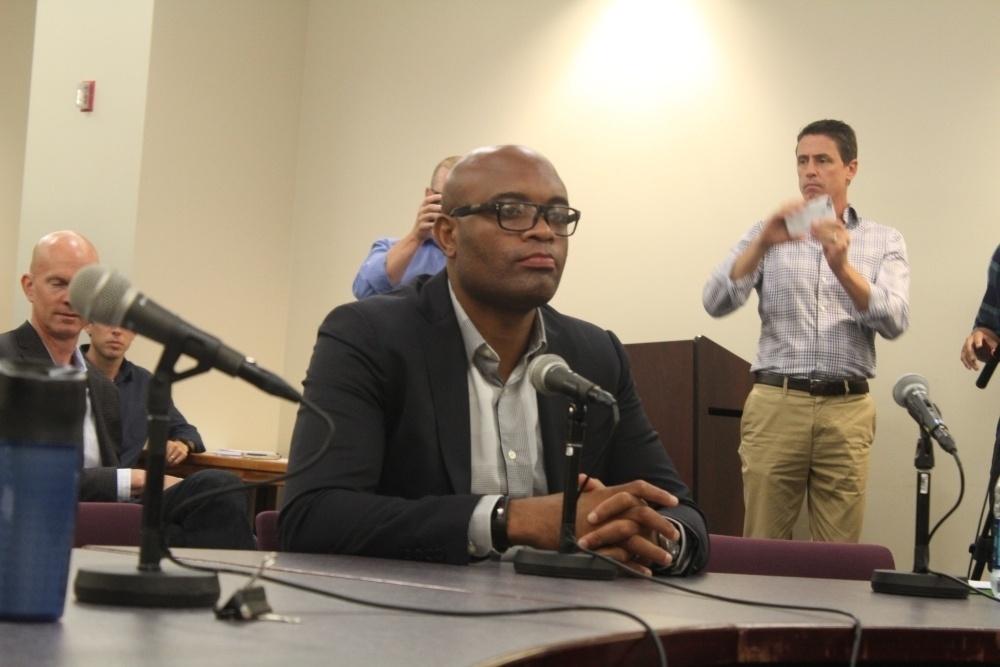 Anderson Silva durante o julgamento do caso de doping