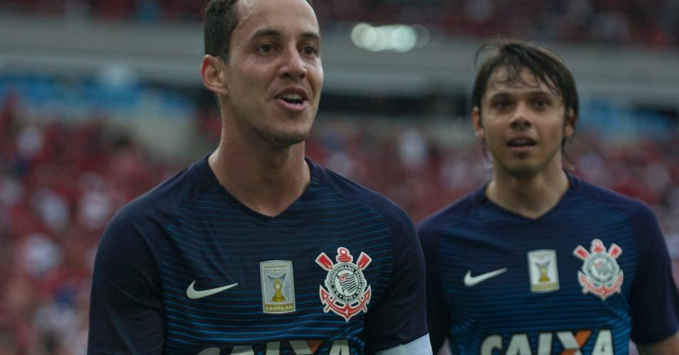 Rodriguinho marca para o Corinthians contra o Flamengo