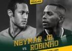 Neymar Jr. e Robinho se enfrentam em amistoso no Pacaembu