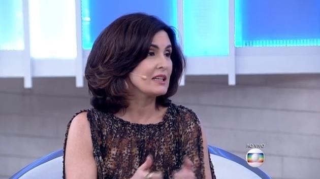 Fátima Bernardes aproveitou tema do programa para comentar desempenho da seleção brasileira