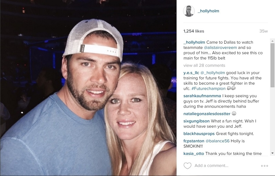 Holly Holm e o marido Jeff Kirkpatrick