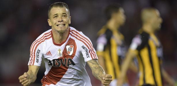 D'Alessandro comemora gol contra o The Strongest, na Libertadores