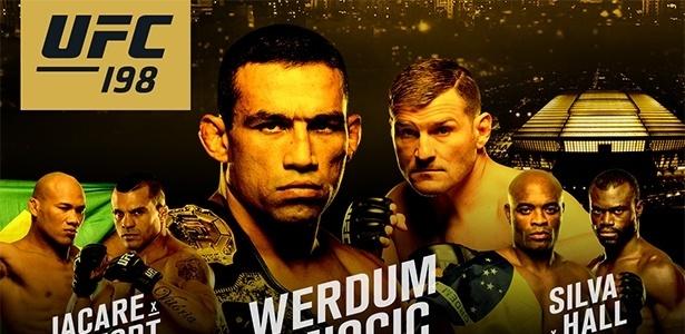 Pôster do UFC 198, que acontecerá na Arena da Baixada